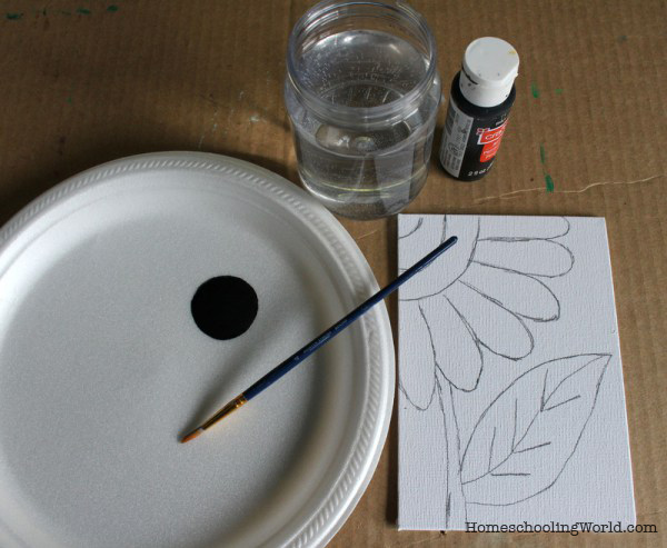 Art Tutorial Easy Flower Painting For Kids Teaching Our Kids