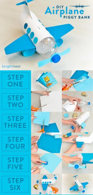 Craft For Kids Make A Unique Piggy Bank Out Of A Plastic Bottle