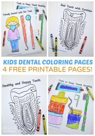Free Dental Coloring Pages For Kids To Learn About The Dentist Educational Freebies