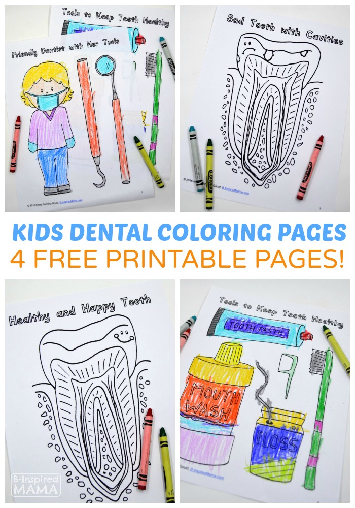- Free Dental Coloring Pages For Kids To Learn About The Dentist -  Educational Freebies